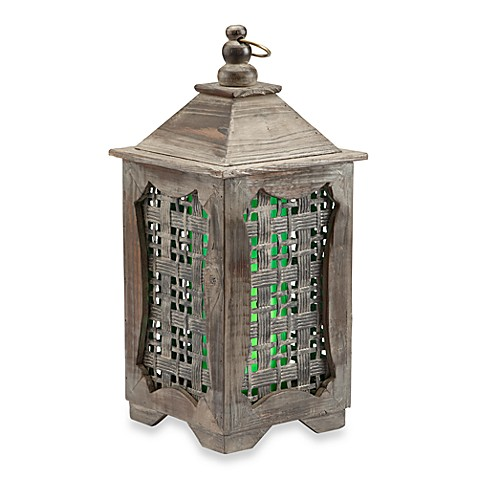 Garden Meadow Solar Temple Lantern - White