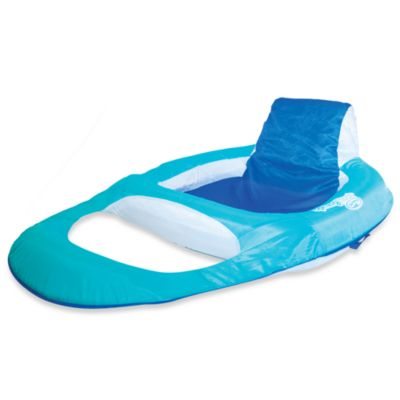 SwimWays® Spring Float® Pool Recliner in Sea Green/Blue