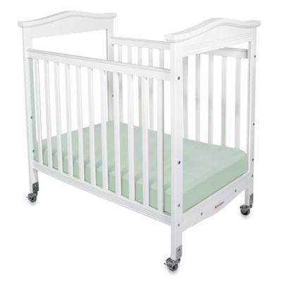 Foundations® Biltmore™ Compact Fixed-Side Clearview Crib in White