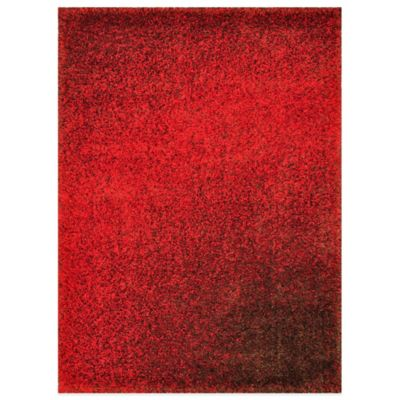 Loloi Rugs Barcelona Shag Rug in Red/Brown