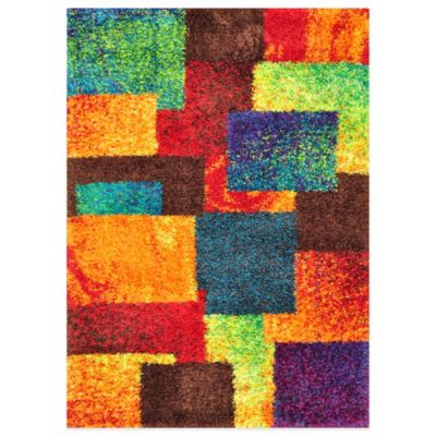 Loloi Rugs Barcelona 3-Foot 9 -Inch x 5-Foot 6-Inch Shag Rug in Multi