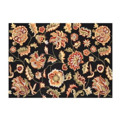 Loloi Juliana Floral Rugs in Black