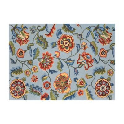 Loloi Rugs Juliana 3-Foot 6-Inch x 5-Foot 6-Inch Floral Rug in Blue