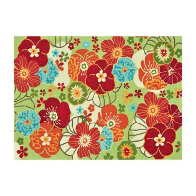 Loloi Rugs Juliana Floral 7-Foot 6-Inch x 9-Foot 6-Inch Rug in Apple Green