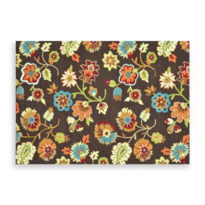 Loloi Rugs Juliana 3-Foot 6-Inch x 5-Foot 6-Inch Room Size Floral Rug in Brown