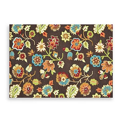 Loloi Rugs Juliana 7-Foot 6-Inch x 9-Foot 6-Inch Floral Rug in Brown