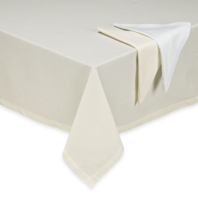 Bistro 90-Inch Square Tablecloth in White