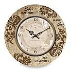 Stone Sentiments 11-Inch Wall Clock