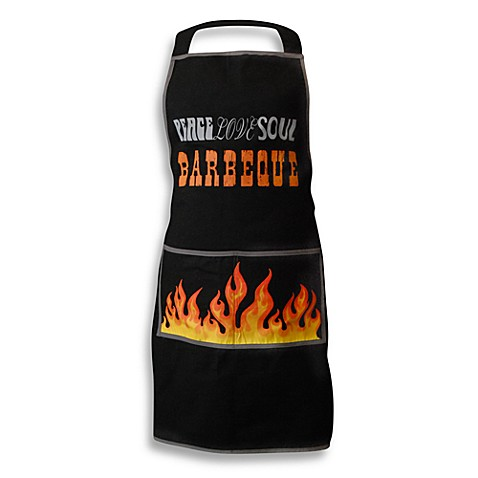 Men's Grill Apron in Peace Love Soul Barbecue