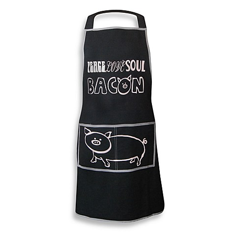 Men's Grill Apron in Peace Love Soul Bacon