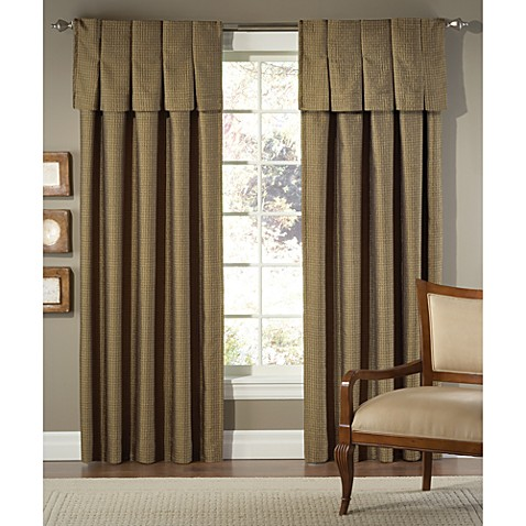 Designers' Select Pimlico Inverted Pleat/Back Tab Window Valance in Bronze