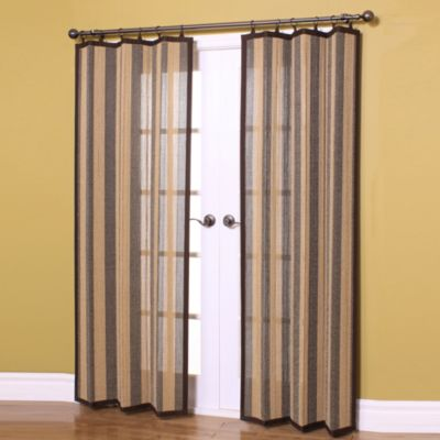 Easy Glide All-Natural 63-Inch Bamboo Ring Top Window Curtain Panel