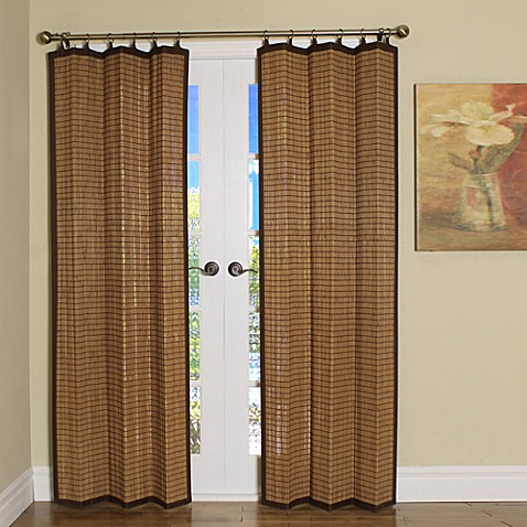 Easy Glide All Natural Bamboo Ring Top Window Curtain