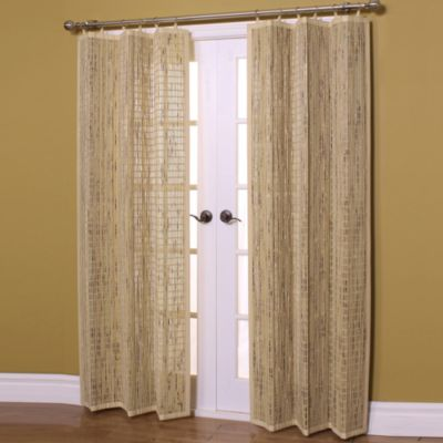 Easy Glide 63-Inch All-Natural Bamboo Ring Top Window Curtain Panel