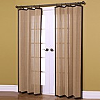 Easy Glide 63-Inch All-Natural Bamboo Ring Top Window Curtain Panel in Camel