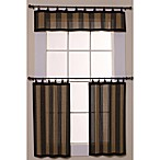 Easy Glide Bamboo Ring Top Window Curtain Tier Pair