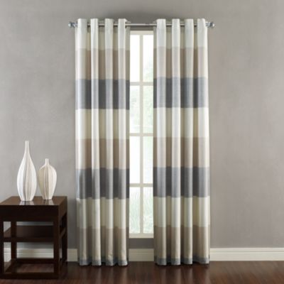 Kas Ribbon Natural Window Curtain Grommet Panels