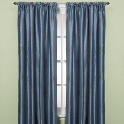 Claire Dandelion Rod Pocket/Back Tab 84-Inch Window Curtain Panel in Red