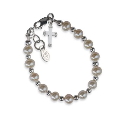 Cherished Moments Silver Christening Bracelet