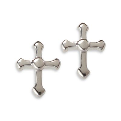 Cherished Moments Sterling Silver Cross Earring