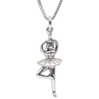 Cherished Moments Sterling Silver Ballerina Charm Necklace