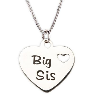 Cherished Moments Sterling Silver Big Sis Charm Necklace