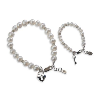 Cherished Moments Mom & Me Key to Heart Bracelet Set