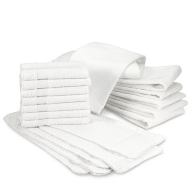 Banded Hand Towels (Set of 7)