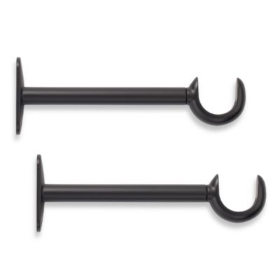 Cambria Complete Black 6-Inch in 9-Inch Single Rod Brackets