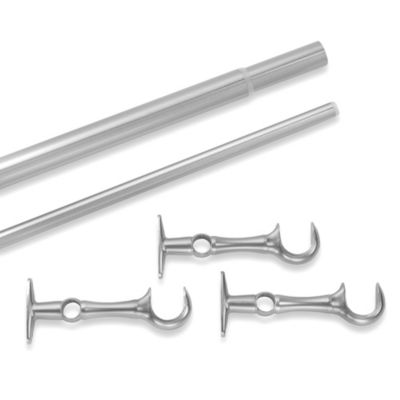 Cambria Complete Brushed Nickel 36-Inch in 70-Inch Double Rod Extension Kit