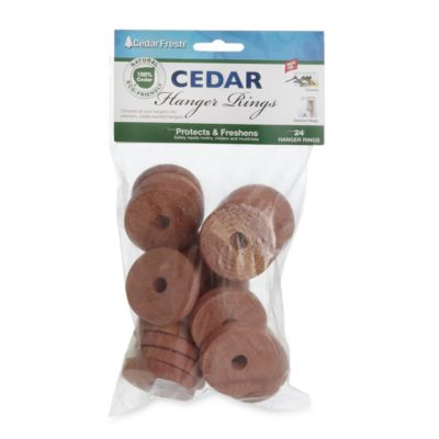 Cedar Hanger Rings (24-Pack)