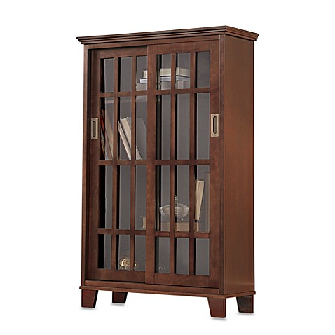 Meridian sliding glass door cabinet walnut bed bath for Meridian cabinet doors