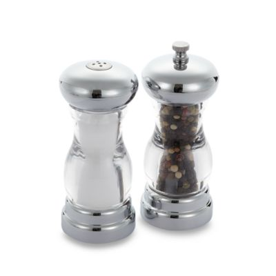 Chrome Salt and Pepper Set