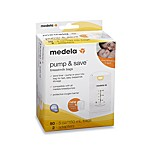Medela® Pump & Save™ 50-Count Breastmilk Bags with Easy-Connect Adapter