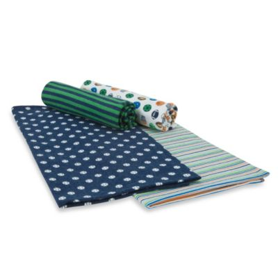 Gerber® Brushed Flannel Receiving Blankets in Blue Set