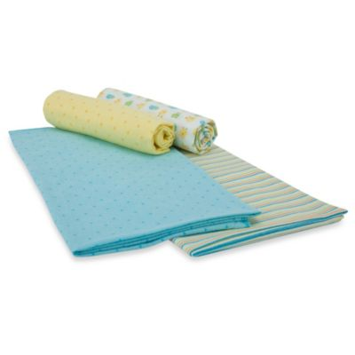 Gerber® Brushed Flannel Receiving Blankets in Yellow Set