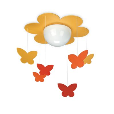 Kidsplace 1-Light Butterfly Mobile Ceiling Lamp