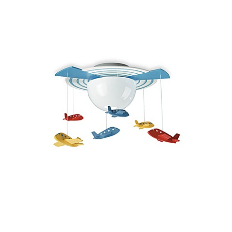 Kidsplace 1-Light Airplane Mobile Ceiling Lamp