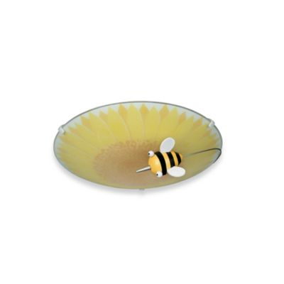 Kidsplace 1-Light Honey Bee Ceiling Lamp