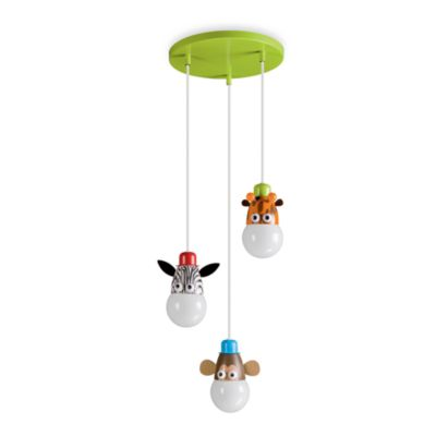 Kidsplace 3-Light Zoo Animals Pendant Cluster