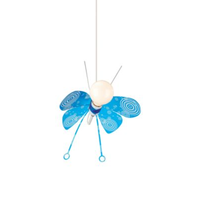 Kidsplace 1-Light Blue Butterfly Pendant