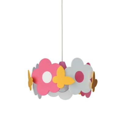 Kidsplace 1-Light Daisies & Butterflies Pendant