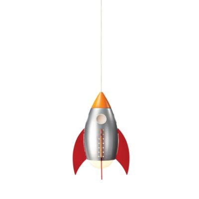 Kidsplace 1-Light Rocket Pendant Light