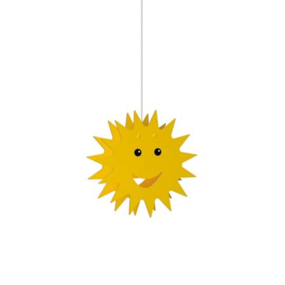 Kidsplace 1-Light Smiley Sun Pendant