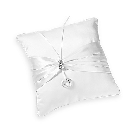 Lillian Rose™ White Rhinestone Ring Pillow White