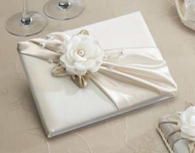 Lillian Rose™ Taupe Rose Guest Book