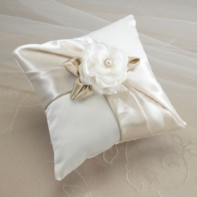 Lillian Rose™ Taupe Rose Ring Pillow