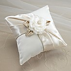 image of Lillian Rose™ Taupe Rose Ring Pillow