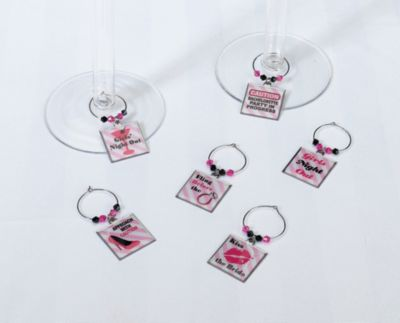 Lillian Rose™ Bachelorette Party 6-Piece Wine Charm Set