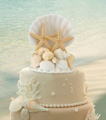 Coastal Wedding Cake Topper